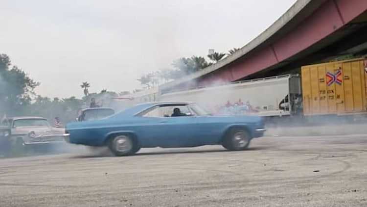 Muscle cars, donuts, burnouts and fireworks; these guys really love America