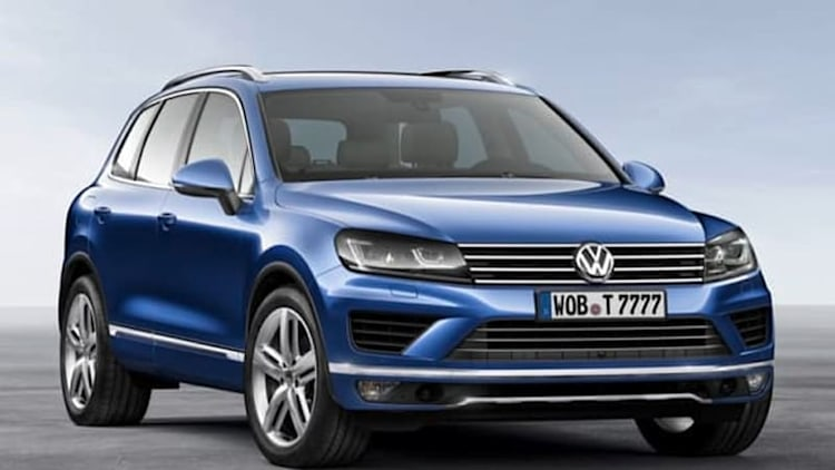VW previews retouched Touareg for Beijing