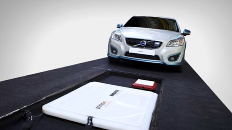 Volvo charges C30 wirelessly in less than three hours