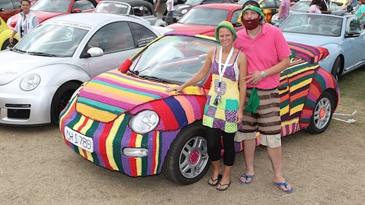 Knit VW New Beetle Convertible is a real stitch
