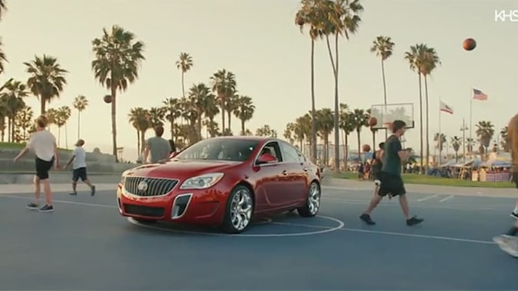 Buick Regal GS and troupe of basketball dribblers make great beats
