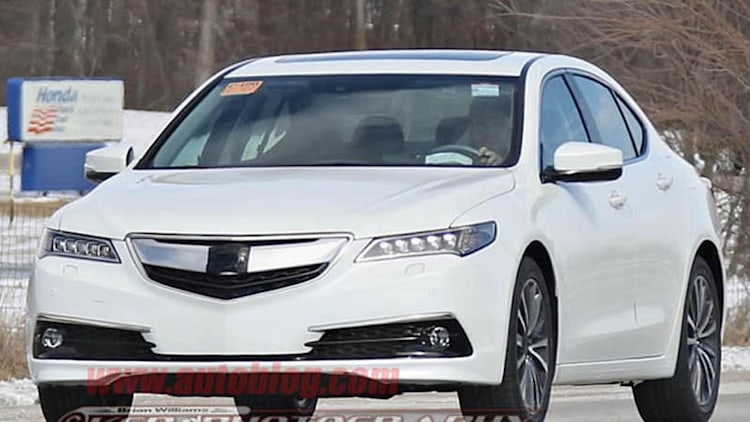 Acura TLX caught naked in production guise, can you spot the differences?