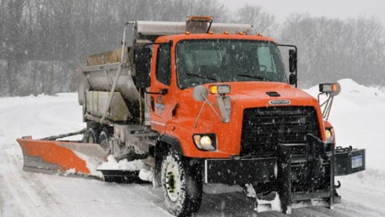 A snowplow driver's Sisyphean task: handling the Snowpocalypse