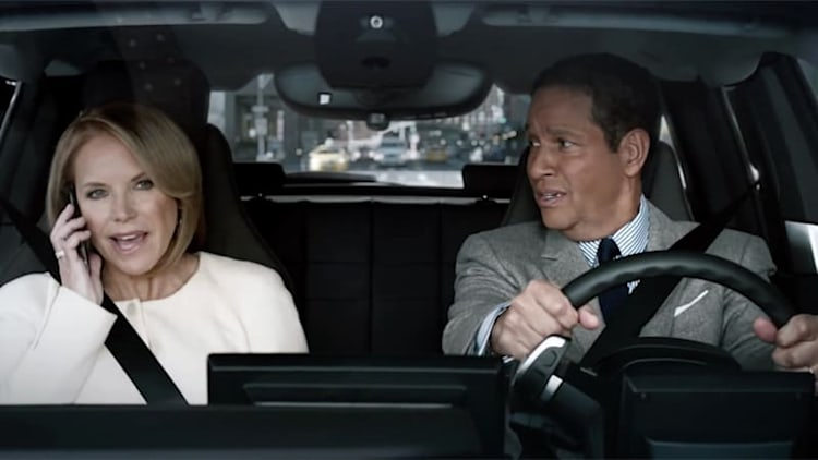 Bryant Gumbel and Katie Couric equate BMW i3 with the Internet