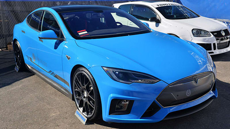 Unplugged Performance Tesla Model S is a blue-sky mod