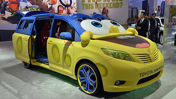 2015 Toyota Sienna goes overboard to promote a SpongeBob movie