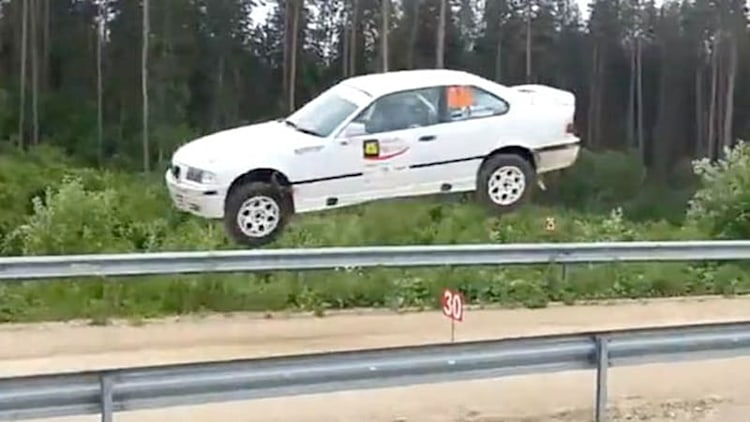 Watch this BMW take flight at Viru Rally