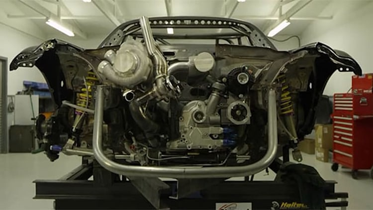 This is what a 1,200-hp twin-turbo 4-rotor looks like in a Miata