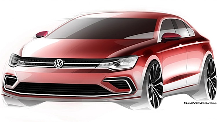 VW teases mini CC four-door coupe concept for China