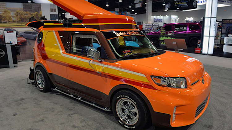 Scion gets weird with '70s-inspired xB and Slayer tC at SEMA