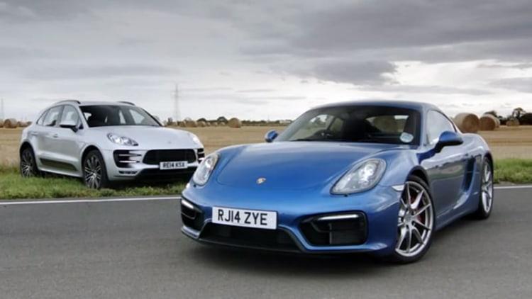 Porsche Macan Turbo vs Cayman GTS in track battle