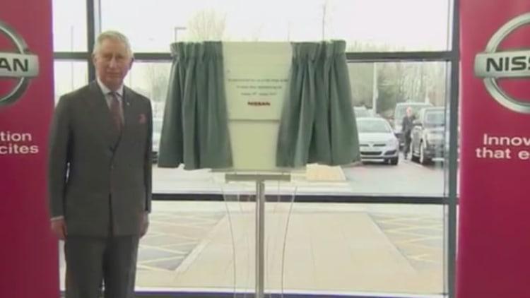 Prince Charles tours Nissan Leaf plant in Sunderland, UK