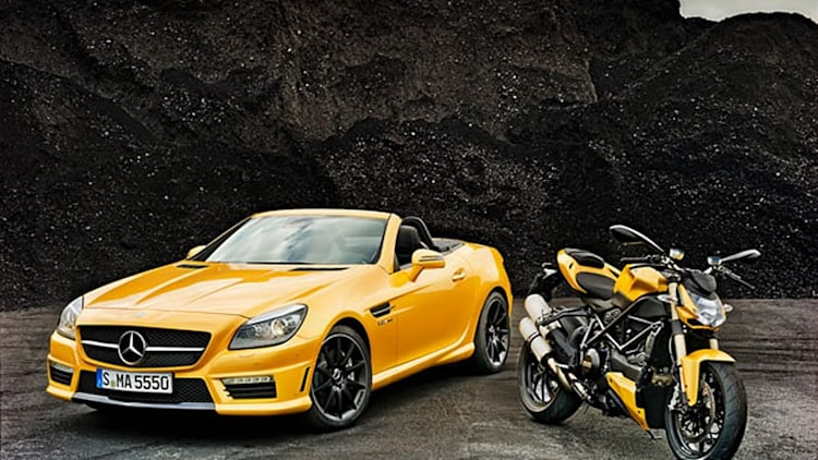 Mercedes and Ducati highlight partnership with pair of matching vehicles