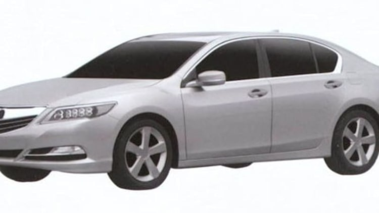 Acura RLX revealed in production form by patent filing