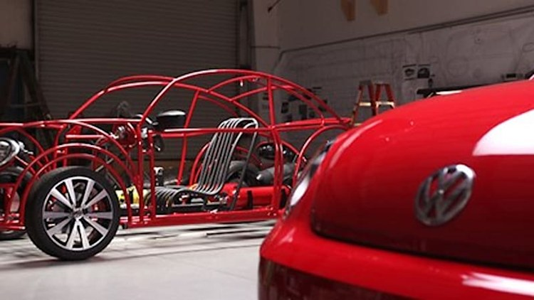 Volkswagen building Beetle Shark Cage in honor of Shark Week [w/video]