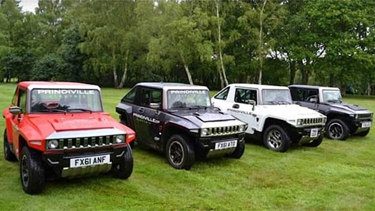 Electric mini Hummer tempts motoring ironists