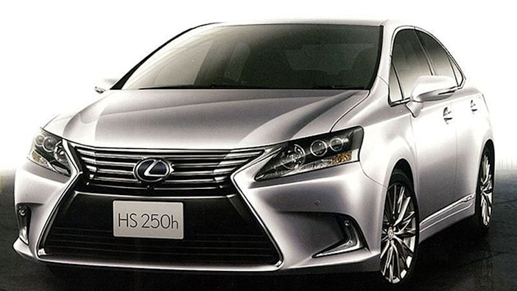 This is the much better looking Lexus HS 250h that we won't get