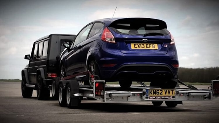 Chris Harris pits Fiesta ST against Mercedes G63 AMG in 0-60 battle... sort of