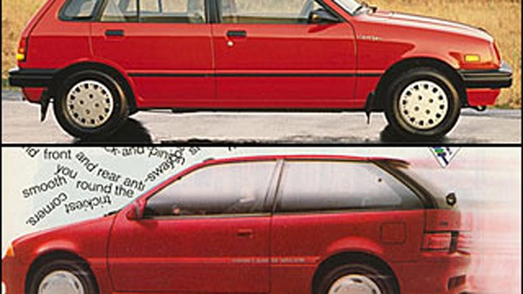 10. 1989 Chevrolet Sprint ER & 1989 Suzuki Swift (Tie)