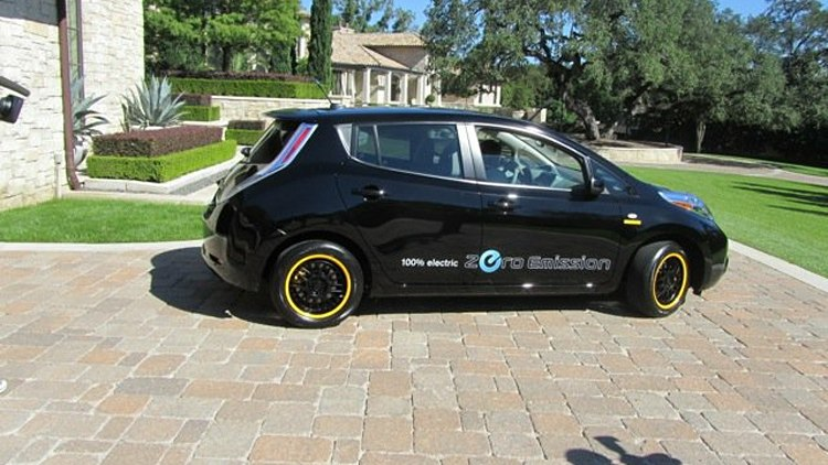 Lance Armstrong's Nissan Leaf