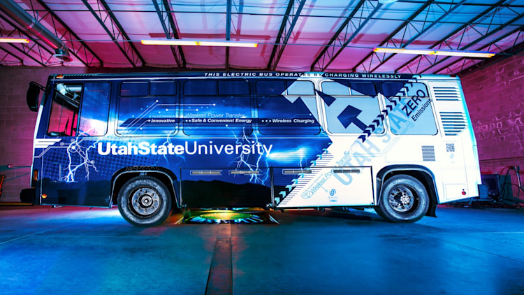 Utah State University electric Aggie Bus