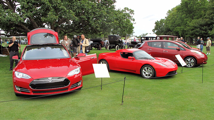 EVs at Concours d'Elegance of America 2013
