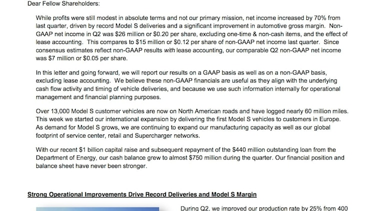 Tesla Motors 2013 2Q Shareholder Letter