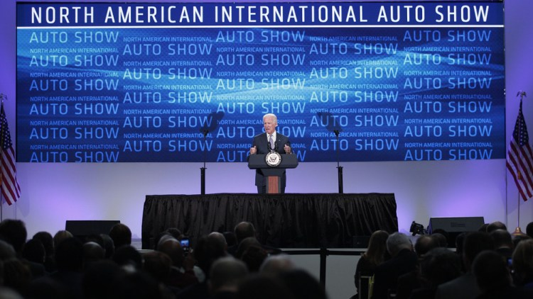 Vice President Biden Visits North American International Auto Show