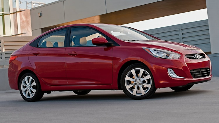 red hyundai accent