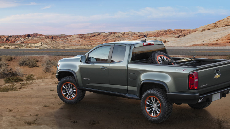 chevy reveals diesel powered colorado zr2 concept w video. Black Bedroom Furniture Sets. Home Design Ideas
