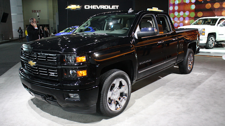 2015 Chevy Silverado Custom Sport is subtle in black