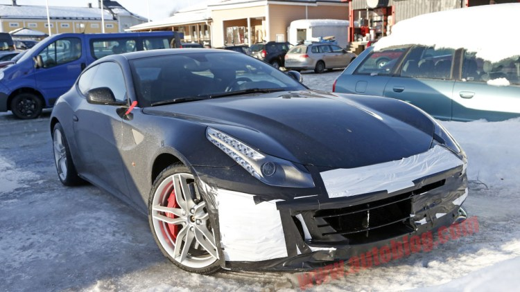ferrari ff spotted testing may get new turbo engine. Black Bedroom Furniture Sets. Home Design Ideas