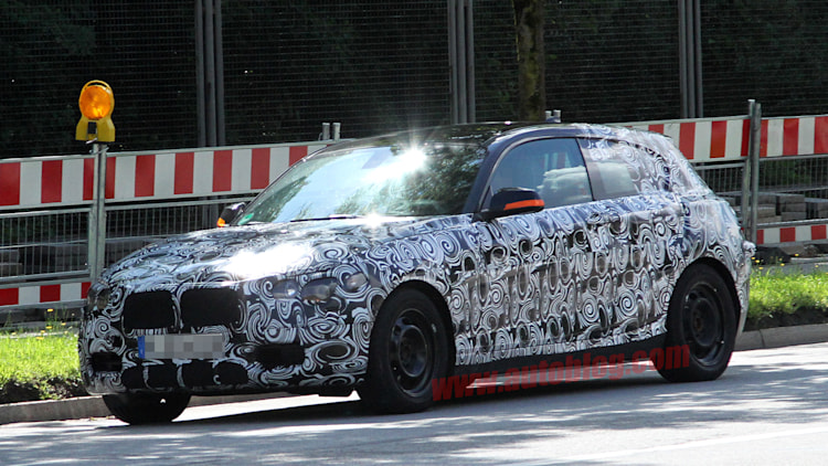 2012 BMW 1 Series hatchback spy shot