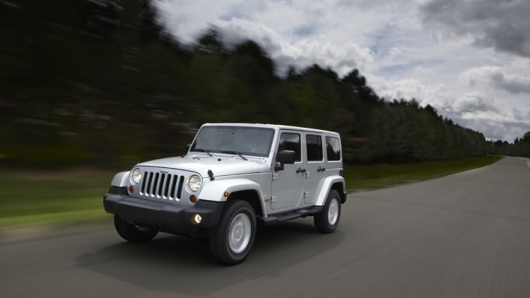 European-spec 2011 Jeep Wrangler with diesel engine