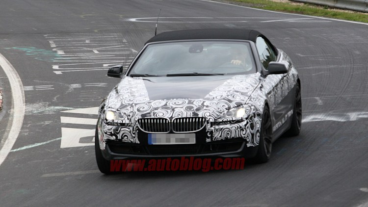 BMW M6 Convertible spy shots