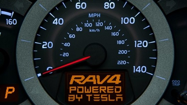 Toyota teases the RAV4 EV ahead of the 2010 LA Auto Show