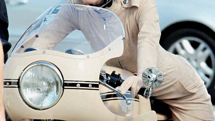Keira Knightley on a Ducati for Chanel