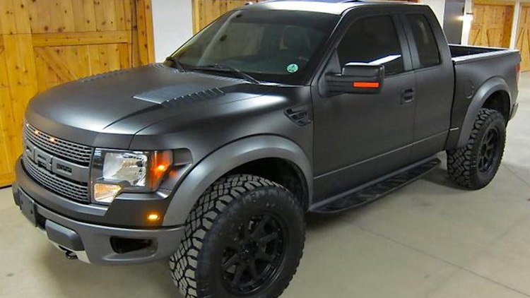 Ken Block's murdered-out 2011 Ford Raptor
