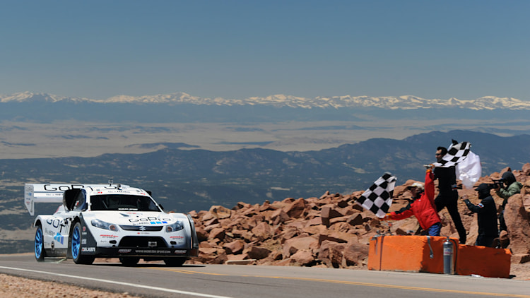 Nobuhiro Monster Tajima breaks the 10 second barrier at the 2011 Pikes Peak Hill Climb