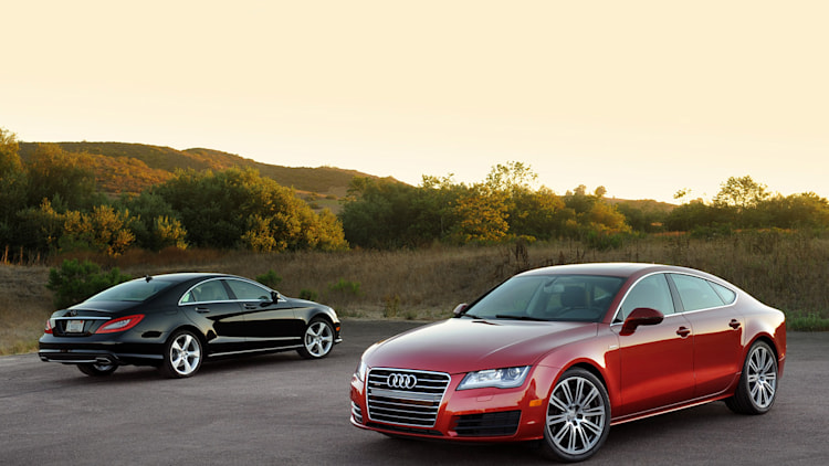 2012 Audi A7 3.0T and 2012 Mercedes-Benz CLS550