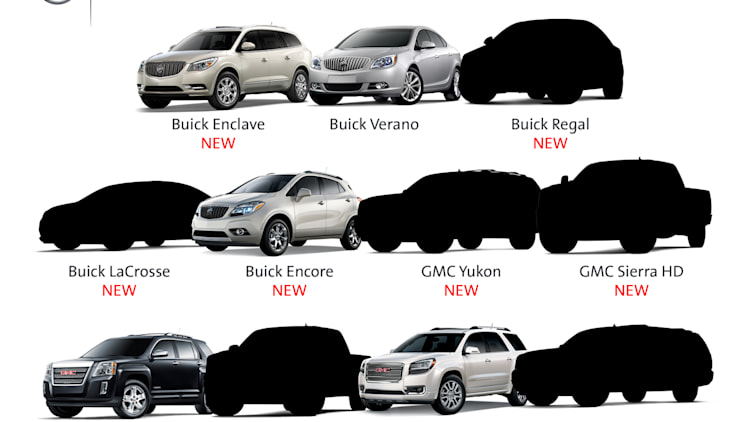 New 2013 and 2014 models being added to GMC and Buick lineups.