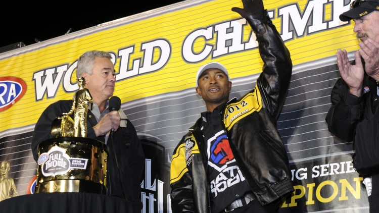 Antron Brown wins NHRA Top Fuel title
