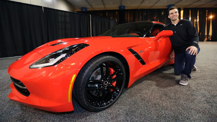 Super Bowl MVP Joe Flacco and his 2014 Corvette