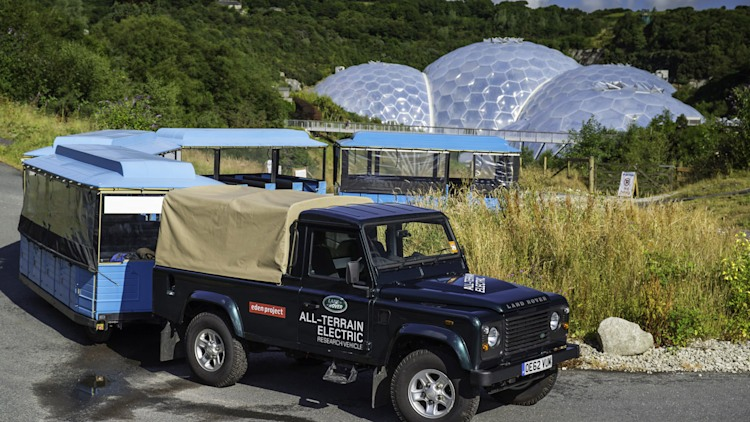 Land Rover Electric Defender at the Eden Project