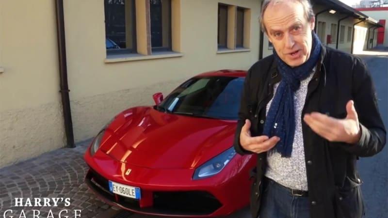 Harry leaves his Garage to drive Ferrari 488 in Maranello