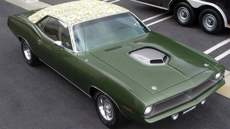 $50k reward to find stolen floral 1970 Plymouth Hemi Cuda