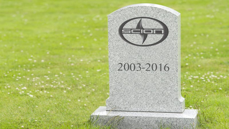 Scion was slain by Toyota, not the Great Recession