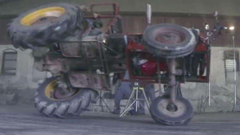Hot rod tractor stars in Swedish version of Farmkhana