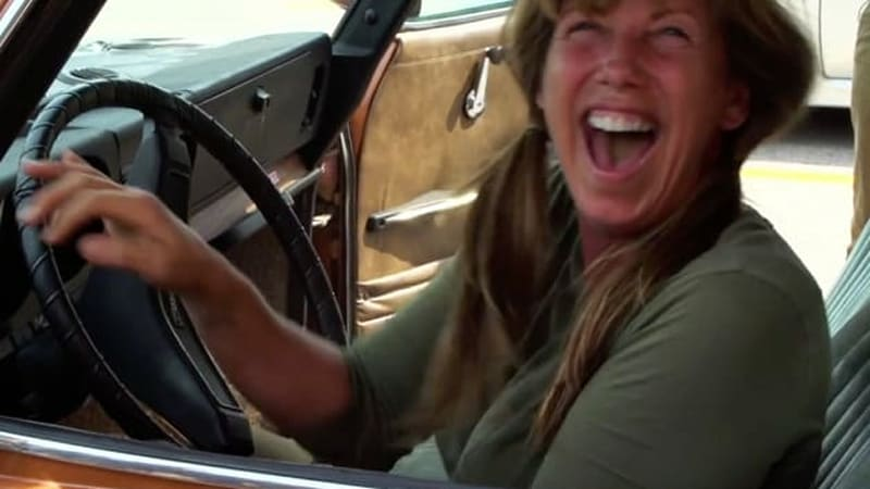 Son surprises mom with her dream car, a 1973 Saab 99