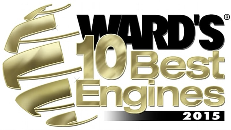 Ward's announces 10 Best Engines 2015